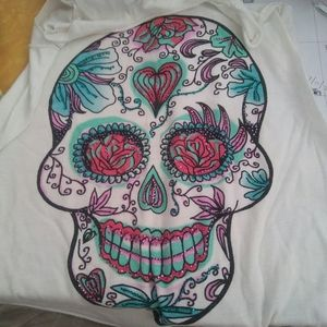 Bear Dance Tops - Graphic Tank Top Day of the Dead Sugar Skull, S